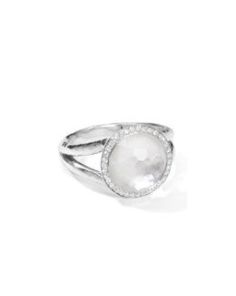 Ippolita Stella Mini Lollipop Ring in Mother-of-Pearl Doublet with Diamonds, 0.29ctw