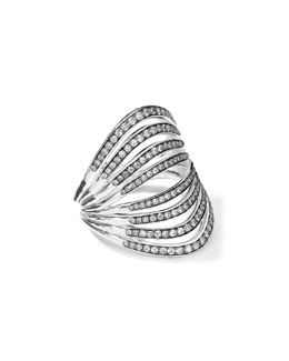Ippolita Sterling Silver Multi-Band Ring with Diamonds (0.82ctw)