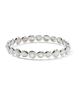 Ippolita Sterling Silver Wonderland All-Around Bangle in Mother-of-Pearl