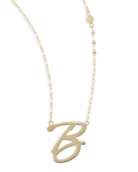 Lana 14k gold initial letter necklaces 14k gold initial letter necklace b aloadofball Image collections