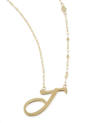 14KT GOLD LETTER NECKLACE, J