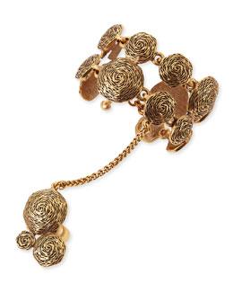 Oscar de la Renta Swirl Bracelet Hand Chain