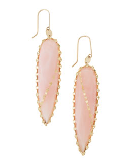 Lana Pink Opal Spike Earrings