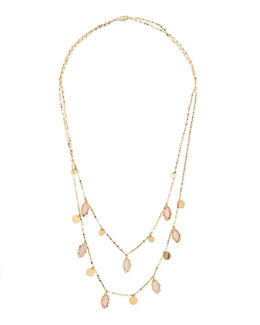 Lana 14k Dream Pink Opal Necklace