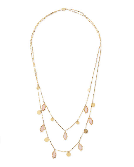 14k Dream Pink Opal Necklace