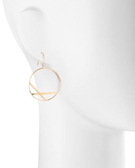14k Small Affinity Hoop Drop Earrings