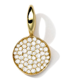 18k Gold Small Charm with Diamonds