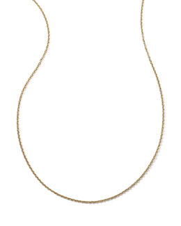 Ippolita 18k Yellow Gold Thin Charm Chain Necklace, 36""