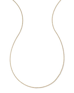 18k Yellow Gold Thick Charm Chain Necklace, 36