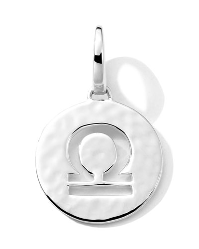 Silver Sterling Silver Zodiac Charm, Libra