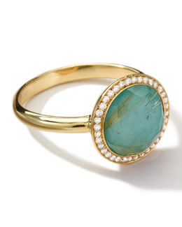 Ippolita 18k Gold Rock Candy Lollitini Ring, Quartz/Turquoise/Diamonds