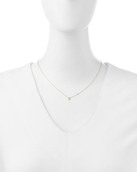 Gold Skull Pendant Bezel Diamond Necklace