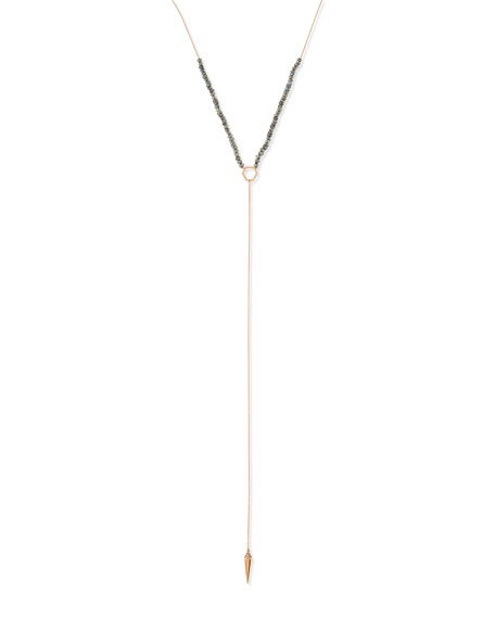 Labradorite Spike Lariat Necklace