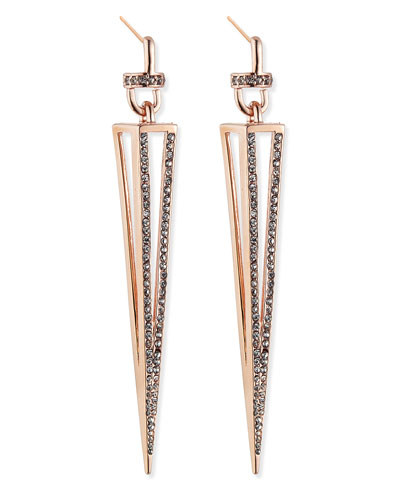 Rose Gold Plated Caged Spike Earrings