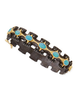 Armenta Old World Wide Cross Bracelet with Opals & Diamonds