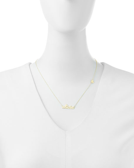 Abigail-Style Personalized Name Necklace with Diamond Heart