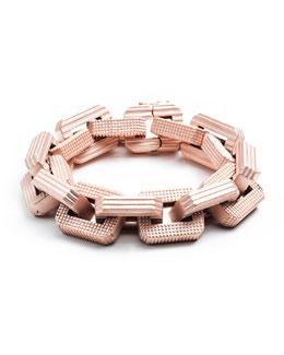 Eddie Borgo Matte Rose Gold Plated Supra Link Bracelet