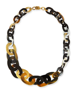 Laini Mixed Horn & Bronze Necklace