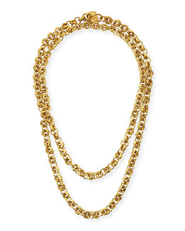 Ashley Pittman Mini Chain Bronze Necklace, 40""