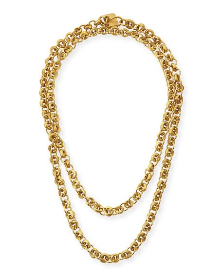 """Mini Chain Bronze Necklace, 40"""""""