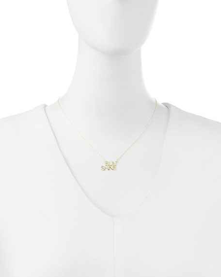 18k White Gold Vermeil Sunshine Necklace