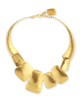 Herve Van Der Straeten Yucata 24k Gold-Plated Collar Necklace