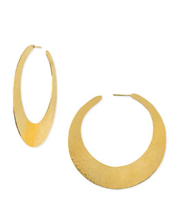 Herve Van Der Straeten Epure 24k Gold-Plated Flat Hoop Earrings
