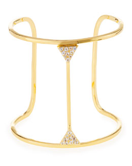 Elizabeth and James Golden Valencia Cuff with Pave Topaz