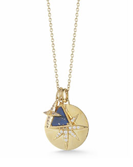 Elizabeth and James Balaton Charm Necklace with Lapis & Topaz, 36""