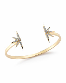 Elizabeth and James White Topaz Celestial Bangle