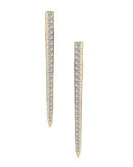 Elizabeth and James White Topaz Celestial Earrings