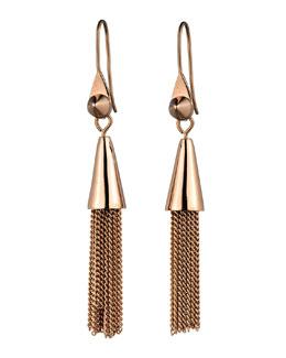 Eddie Borgo Small Rose Gold Plated Chain Tassel Drop Earrings