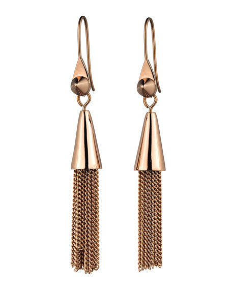 Eddie Borgo Small Rose Gold Plated Chain Tassel
