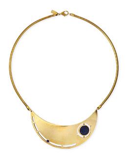 Pamela Love Rotation Lapis Breast Plate Necklace