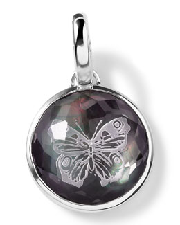 Ippolita Sterling Silver Butterfly Intaglio Charm, Black Shell Doublet