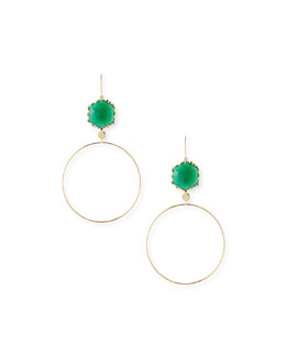 Lana Envy Green Onyx Hoop Drop Earrings