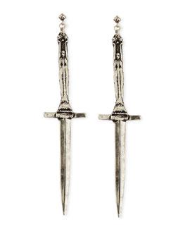 Pamela Love Sterling Silver Dagger Earrings
