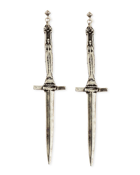 Sterling Silver Dagger Earrings