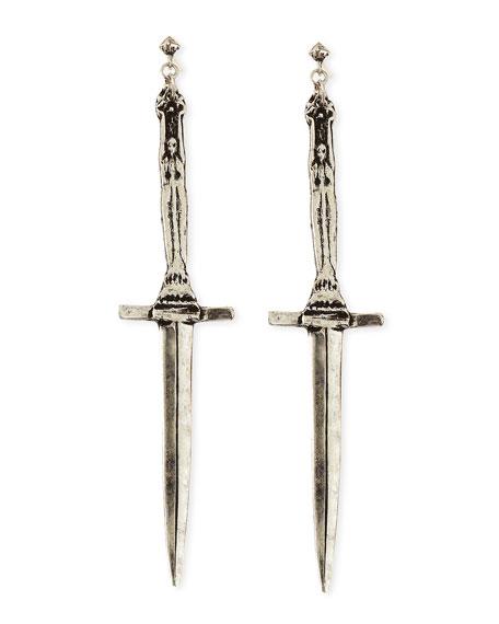 Sterling Silver Dagger Earrings