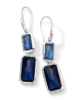 Ippolita Rectangle-Cut Quartz & Mother-of-Pearl/Pyrite Earrings