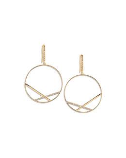 Lana Fatale Affinity Hoop Earrings with Diamonds