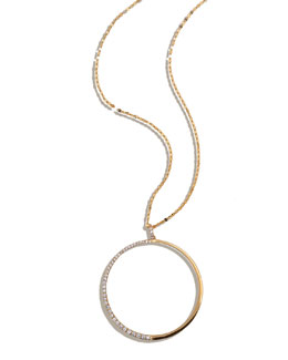 Lana Femme Large Circle Necklace with Diamonds