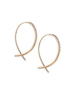 Lana Fatale Small Hook Earrings with Diamonds