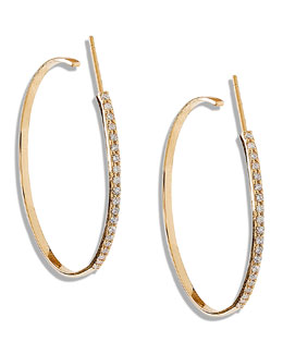 Lana Femme Small Hoop Earrings with Diamonds