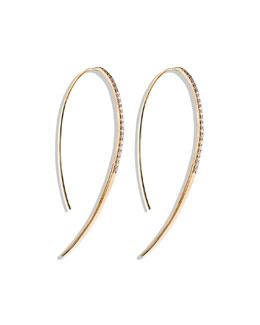 Lana Fatale Large Hook Earrings with Diamonds
