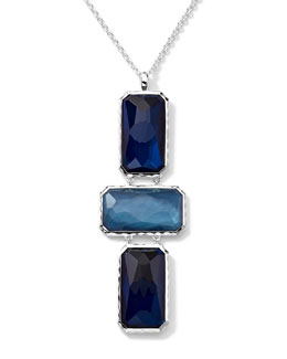 Ippolita Wonderland 3 Rectangle-Cut Quartz, Mother-of-Pearl, Pyrite Pendant Necklace