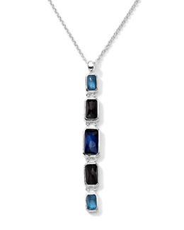 Ippolita Linear 5 Quartz, Mother-of-Pearl, Pyrite Pendant Necklace