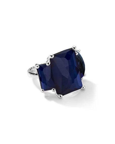Rock Candy 3-Stone Quartz & Pyrite Ring