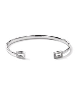Ippolita Stella Rectangle Huggie Bracelet with Pave Diamonds