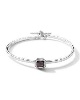 Ippolita Stella Toggle Bracelet with Black Shell Cushion & Diamonds